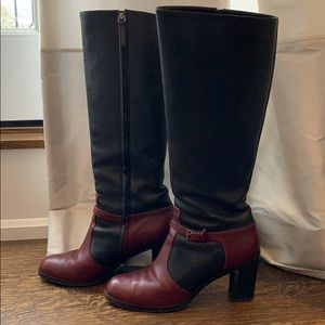PROENZA SCHOULER knee high 2-tone leather boots